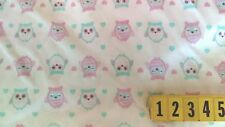Soft Cotton Jersey Knitted Fabric Owls Printed Design - 150cm Wide - New by Dcf