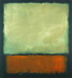 Mark Rothko Darkbrown And Grey Giclee Art Paper Print Poster Reproduction