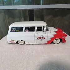 1957 CHEVY SUBURBAN VAN DITCH KING PIN SPEED SHOP 1:24 SCALE DIECAST JADA