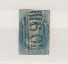 More details for tasmania van diemen's land qv 1857 4d blue imperf jk6023