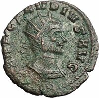 CLAUDIUS II Gothicus with  spear & globe 269AD Rare Ancient Roman Coin i54864