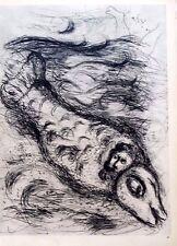 Marc Chagall offset lithograph Bible  paris maeght 1960 original 87 2 sided