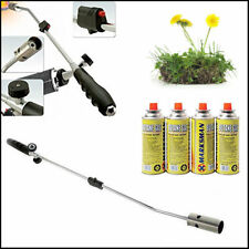 Weed Burner Killer Wand & 4 Butane Gas Blowtorch Garden Outdoor Weed Moss Fungus