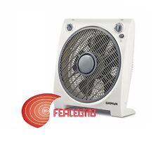 VENTILATORE DA TAVOLO BOX FAN 45W PALE 30CM 3 VELOCITÀ G3 FERRARI ART.G50033