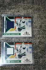 COREY SCHNEIDER 2010-11 PANINI ALL GOALIES STOPPER SWEATERS PATCH LOT 2 COLORS