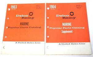 DELCO REMY MARINE POPULAR PARTS CATALOG 1963 & 1964 FREE SHIP