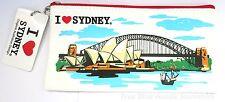 1x Australian Souvenir Canvas Pencil Case - Sydney Harbour & Opera House Design