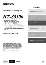 Onkyo Integra HT-S5300 Receiver Owners Instruction Manual