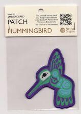 Native Art Souvenir Patch  Hummingbird