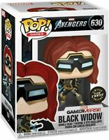 Funko Pop! Marvel: Avengers Game - Black Widow Glow Chase #630 Toy Figure
