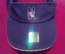 Northwestern Wildcats Cotton Visor with Hologram Velcro Closure Twins Enterprise
