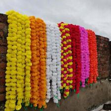 5 PCs Artificial Marigold Flower Garlands Vine Wedding Indian Event Decoration