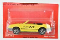 Majorette Ford Mustang Convertible Yellow 1:59 Scale 227 France Cut Card MOC