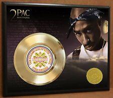 2pac / Tupac LTD Edition Poster Art Gold Record Music Memorabilia Free Shipping
