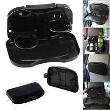 Folding Car Back Seat Table For Drink Food Cup Tray Rack Holder Stand Black