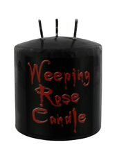 Qualcosa di diverso piangente rose candele candela Nero 7.5x7.5cm