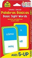 Basic Sight Words Flash Cards Bilingual Spanish Learning for Kids 5 and above
