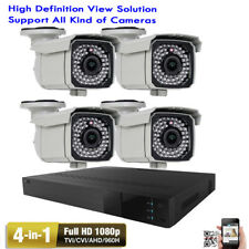 4Ch Tvi 2.6Mp 1080P 4-in-1 Dvr 66Ir Outdoor 2.8-12mm Varifocal Security Camera
