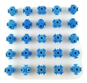 Fisher Price Construx Blue Ball Lot Knot Connector Bundle Replacement Part Piece