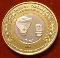 French Africa - Cameroon 1 Franc 2014 UNC Monkey Bi-metallic WWI Unusual coinage
