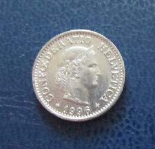 """Münze 10 Rappen Schweizer Franken 1996 """"B"""" aus Umlauf gültiges Zahlungsmittel"""
