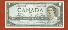 1954 Five Dollar Bank Note (Note has a couple of light folds) E562