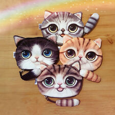 Modelador de Ojos de gato cremallera bolso de la moneda del monedero de la mini