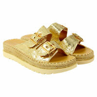 WOMENS LADIES CHUNKY  PLATFORM SUMMER SANDALS WEDGES PLATFORM STRAPPY SHOES SIZE