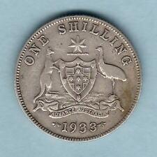 Australia.  1933 Shilling ..  Fine