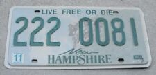 """Vintage, New Hampshire, License Plate """"222-0081""""  (Live Free Or Die)"""