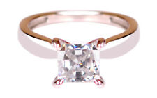 925 Sterling Silver With Princess Shape 2.25 Carat Solitaire Engagement Ring