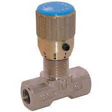 Hydraulic Aguja Válvula bidireccional de control de flujo G3/8bsp latón placa de Ni -