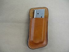 Kimber 1911 Compact 45 Leather Clip On OWB Belt Magazine Mag pouch CCW TAN USA