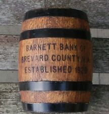 Vintage Barrel Bank   Barnett Bank Of Brevard County EST 1929