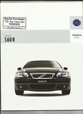 VOLVO S60R CAR SALES BROCHURE  MAY 2004