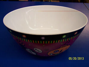 Halloween Friends Icons Purple Party Large Melamine Plastic Serving Candy Bowl