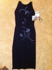 *NWT* Reggio Milenium Collection 2000 Navy Blue Velour Dress