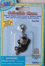 Webkinz Gorilla Collectible Charm VHTF NEW WITH CODE