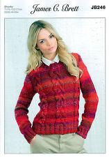 Ladies Sweater JB246 Knitting Pattern in James C Brett Marble Chunky