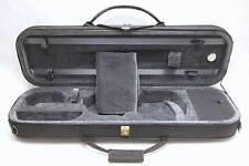 Classic 4/4 Violin Oblong Case. Black/ Gray. Lightweight