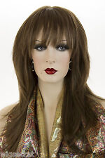 Light Chestnut Brown Brunette Long Medium Skin Top Straight Wigs
