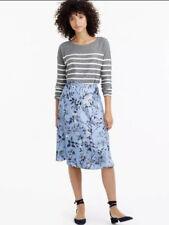 J.Crew Collection flowy A-line skirt in Ratti monkey print Blue Silk Sz 12 NWT