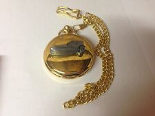 Bond Bug ref33 pewter effect emblem gold quartz pocket watch