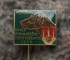 1979 Regional Hunting Dog Show Exhibition Hounds Hunter Czech Hunt Pin Badge