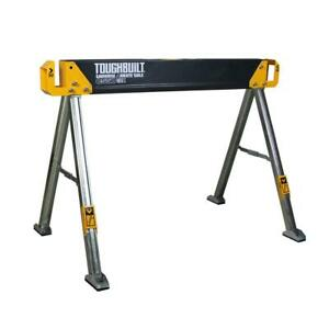 42.4 In. W X 28.8 In. H Steel Sawhorse And Jobsite Table ? 1100 Lb. Capacity