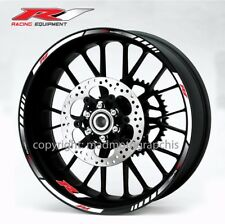 Yamaha YZF-R1 motorcycle wheel decals stickers rim stripes Laminated yzf r1 wht