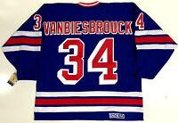 JOHN VANBIESBROUCK NEW YORK RANGERS CCM VINTAGE 1984-1987 JERSEY NEW WITH TAGS