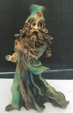 Wizart Wizard Figurine Resin Glass Crystal Staff Red Jewel Eyes Magical Mystic
