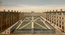 1750c - VISTA PLAZA REAL DE PARIS - Grabado Iluminado