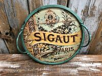 Serving Tray - Segaut / Paris  - Wood with metal handles